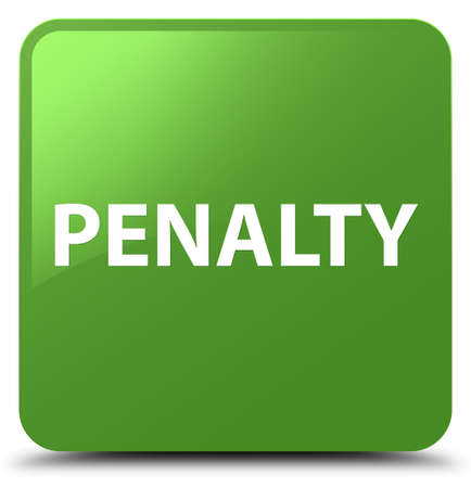 Penalty isolated on soft green square button abstract illustration