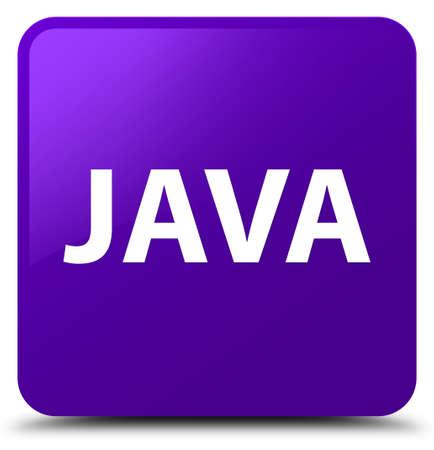紫色の正方形のボタンの抽象的なイラストで隔離された Java