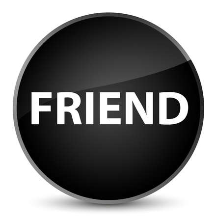 Friend isolated on elegant black round button abstract illustration