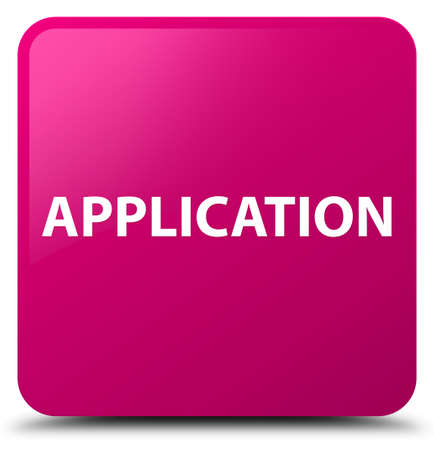 Application isolated on pink square button abstract illustration