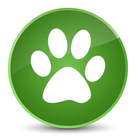 Animal footprint icon isolated on elegant soft green round button abstract illustration