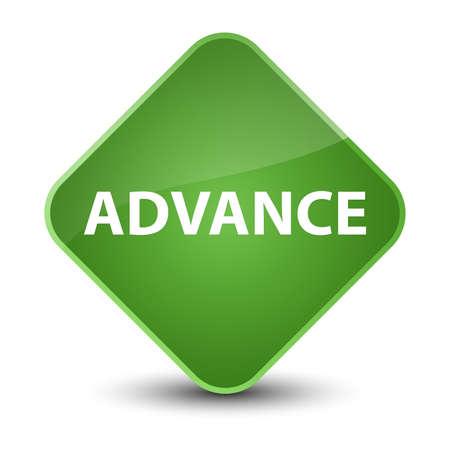 Advance isolated on elegant soft green diamond button abstract illustration