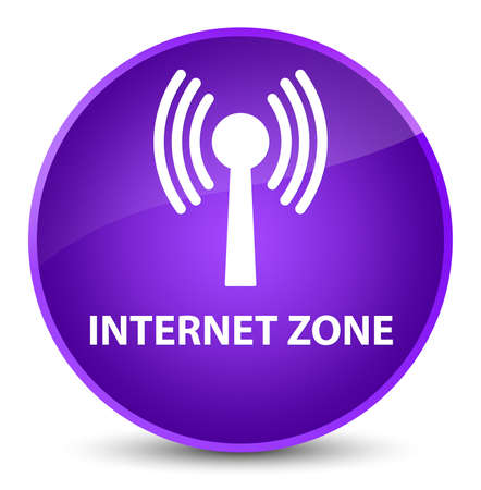 Internet zone (wlan network) isolated on elegant purple round button abstract illustration