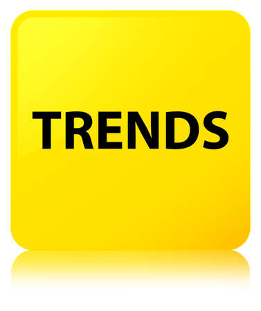 Trends isolated on yellow square button reflected abstract illustration