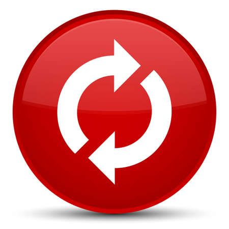 Update icon isolated on special red round button abstract illustration