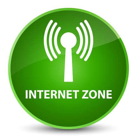 Zone Internet (réseau WLAN) isolé sur une illustration abstraite du bouton rond vert élégant Banque d'images - 89032360