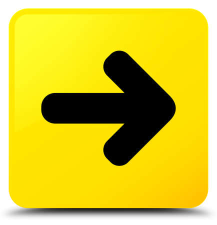 Next arrow icon isolated on yellow square button abstract illustration