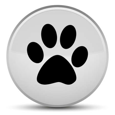 Animal footprint icon isolated on special white round button abstract illustration