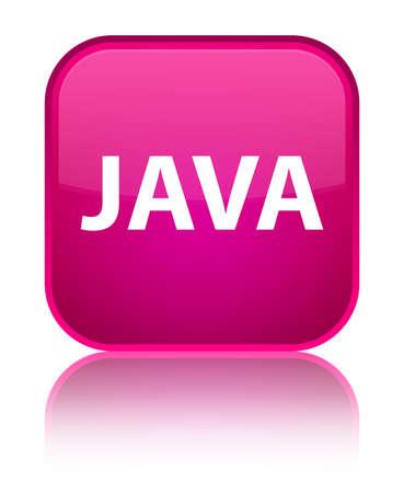 特別なピンク四角のボタンで分離された Java 反映の抽象的なイラスト