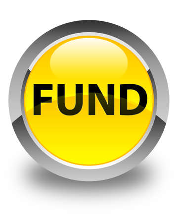 Fund isolated on glossy yellow round button abstract illustration