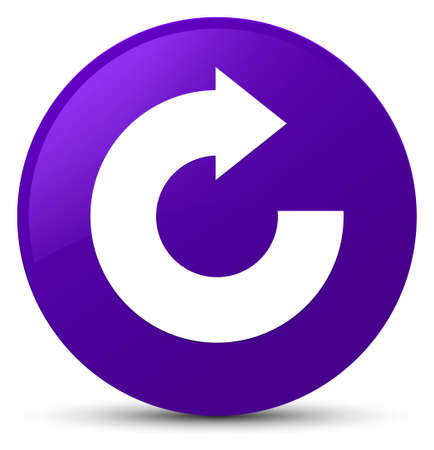 Reply arrow icon isolated on purple round button abstract illustration