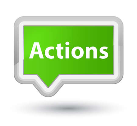 Actions isolated on prime soft green banner button abstract illustration Stok Fotoğraf