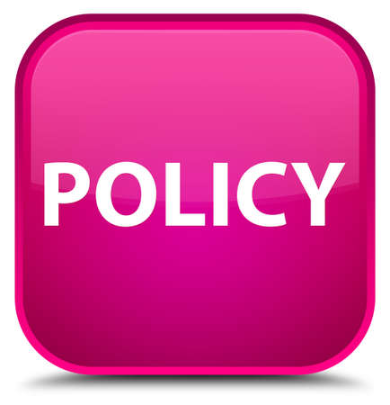 Policy isolated on special pink square button abstract illustration