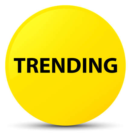 Trending isolated on yellow round button abstract illustration