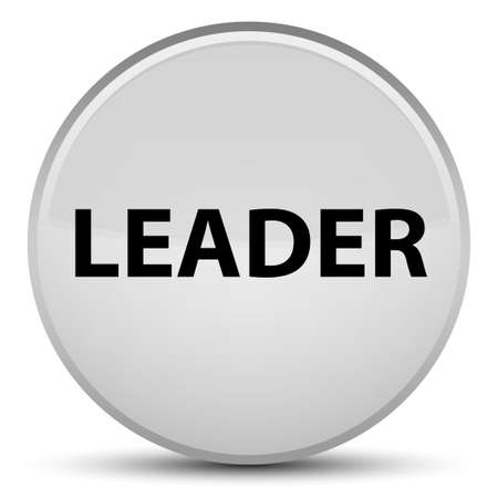 Leader isolated on special white round button abstract illustration