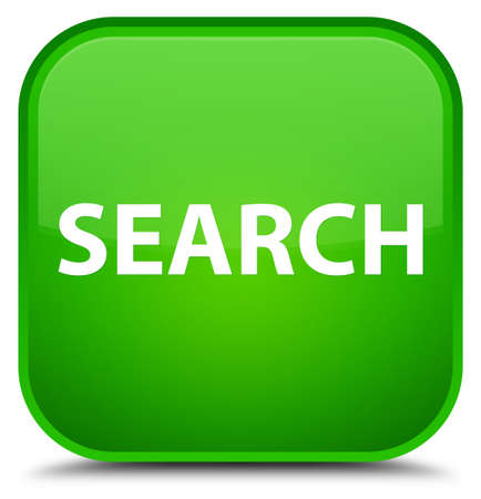Search isolated on special green square button abstract illustration Stock Photo