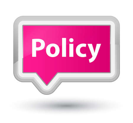 Policy isolated on prime pink banner button abstract illustration