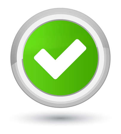Validate icon isolated on prime soft green round button abstract illustration