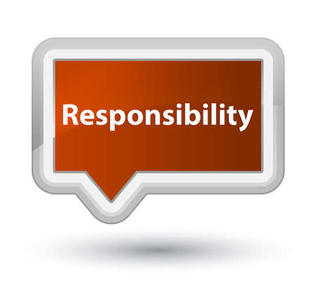 Responsibility isolated on prime brown banner button abstract illustration Stock Photo