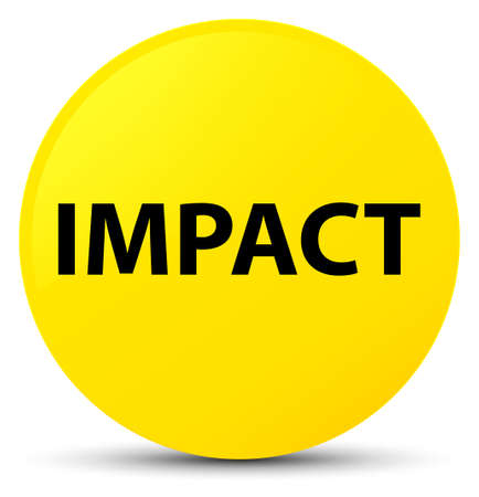 Impact isolated on yellow round button abstract illustration Stock Photo