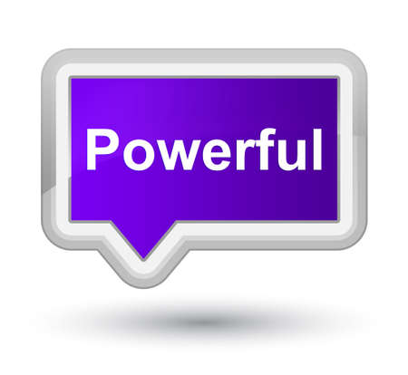 Powerful isolated on prime purple banner button abstract illustration Stock Photo