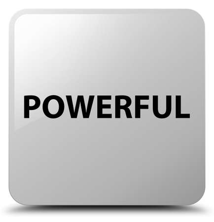 Powerful isolated on white square button abstract illustration