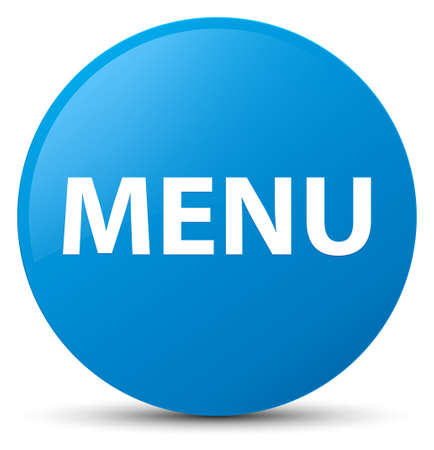 Menu isolated on cyan blue round button abstract illustration Stock Photo