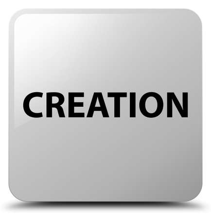 Creation isolated on white square button abstract illustration Stok Fotoğraf