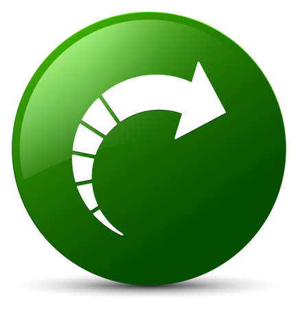 Next arrow icon isolated on green round button abstract illustration Stock Photo