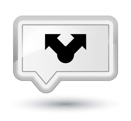 プライムの白いバナー ボタン抽象的なイラストに分離された共有アイコン