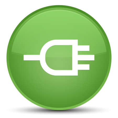 connectors: Connect icon isolated on special soft green round button abstract illustration