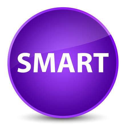 Smart isolated on elegant purple round button abstract illustration Imagens - 89045790
