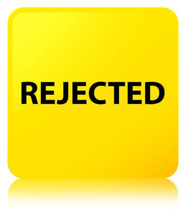 拒否に孤立した黄色の正方形ボタン反映の抽象的なイラスト 写真素材