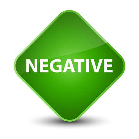 Negative isolated on elegant green diamond button abstract illustration