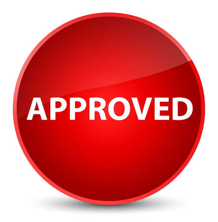 Approved isolated on elegant red round button abstract illustration