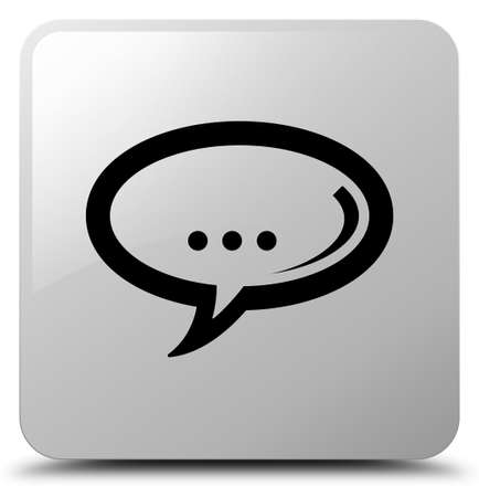 Chat icon isolated on white square button abstract illustration Stock Photo