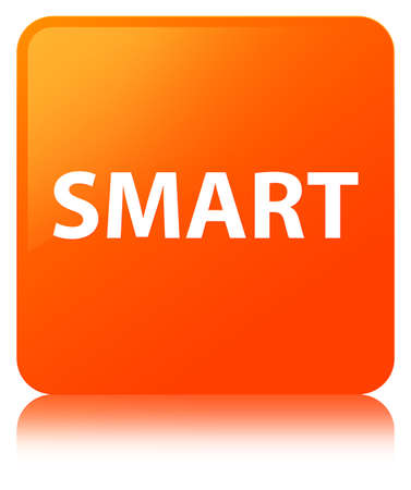 Smart isolated on orange square button reflected abstract illustration Imagens - 89349927