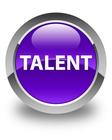 Talent isolated on glossy purple round button abstract illustration Stock fotó