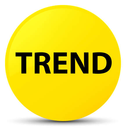 Trend isolated on yellow round button abstract illustration Stock Photo