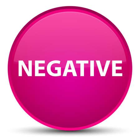 Negativo aislado en la ilustración abstracta del botón redondo rosado especial Foto de archivo - 89202568