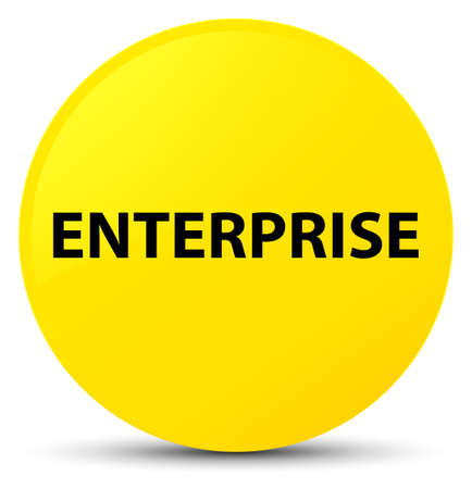 Enterprise isolated on yellow round button abstract illustration