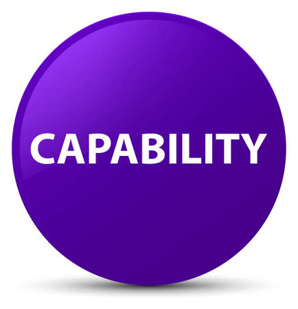 Capability isolated on purple round button abstract illustration