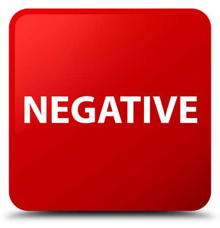 Negativo isolado na ilustração abstrata de botão quadrado vermelho Foto de archivo - 89117875