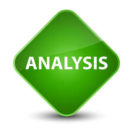 Analysis isolated on elegant green diamond button abstract illustration