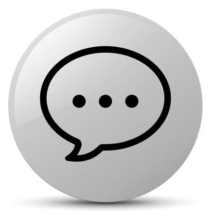 Talk bubble icon isolated on white round button abstract illustration Stock Photo