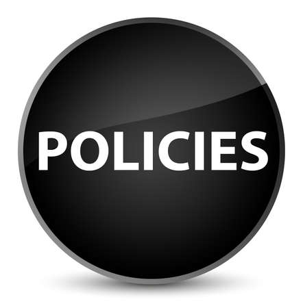 Policies isolated on elegant black round button abstract illustration Banco de Imagens