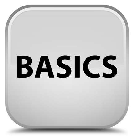 Basics isolated on special white square button abstract illustration
