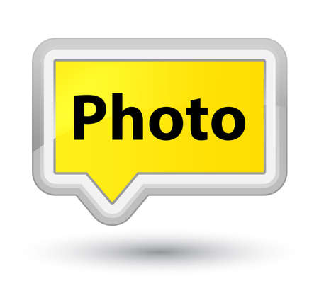 Photo isolated on prime yellow banner button abstract illustration Stock Photo