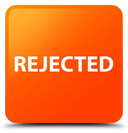 拒否に孤立したオレンジ色の正方形ボタンの抽象的なイラスト