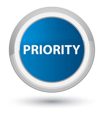 Priority isolated on prime blue round button abstract illustration